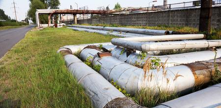 Heating main. Radioactive dead zone of Chernobyl. Chernobyl radioactive contamination. Chornobyl Disasters Stock Photo