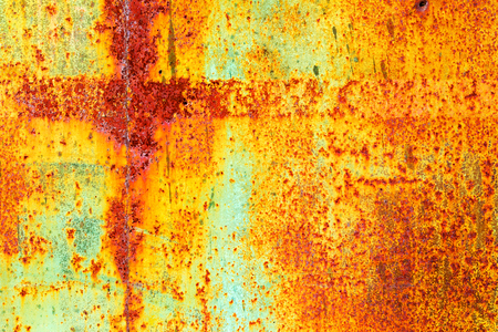 rust red: Creative old rusty metal background. Flat background texture dirty metal. As the main background for vintage design
