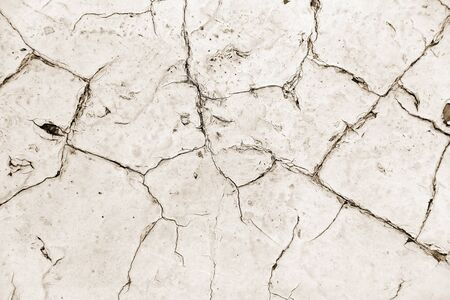 Distressed overlay texture of cracked concrete, stone or asphalt. Grunge background. Abstract illustration Stock Photo
