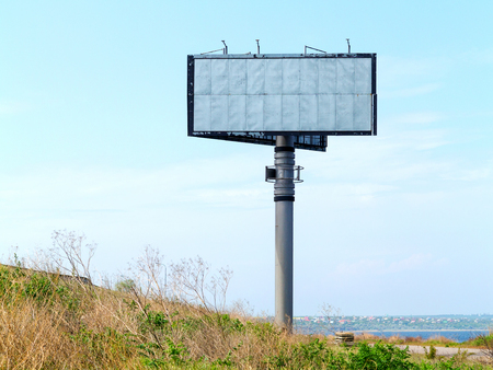Empty billboard on background of sunset sky for your advertisement Imagens