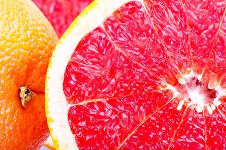 Grapefruit in a cut, as a textured background