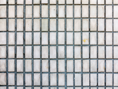 Old outdoor facing tiles for buildings. Abstract geometric architectural background. Reklamní fotografie