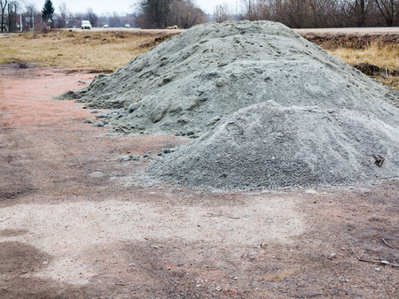 Crushed stone mounds. As a background for your project Imagens