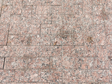 Pavement pattern marble slabs stone tiles exterior flooring texture background of outside terrace, close up, high-key tone and top view Reklamní fotografie