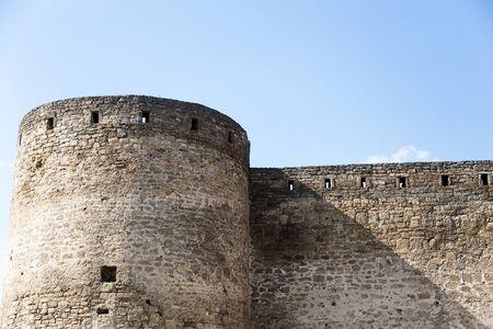 Ancient stone and brick Akkerman fortress 스톡 콘텐츠
