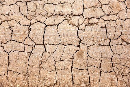 Texture de sol fissuré et séché