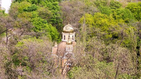 domes of the cathedral are buried in verdure