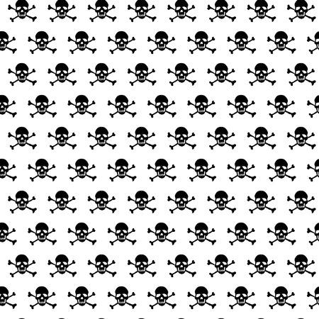 glum: Crossbones and skull pattern Illustration