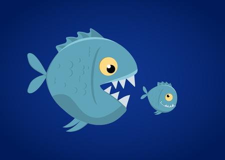 Resultado de imagen para imagenes pez grande se come al chico