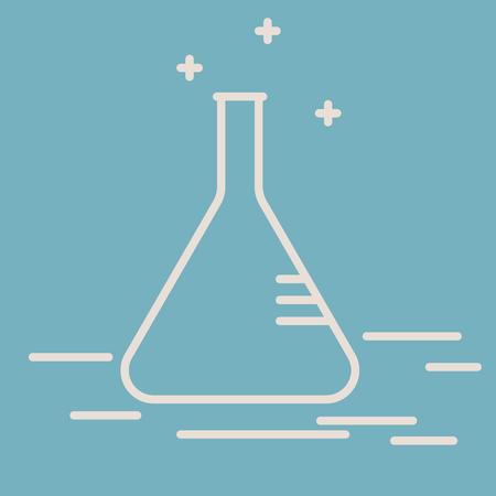 erlenmeyer: Erlenmeyer chemical flask. Vector Illustration
