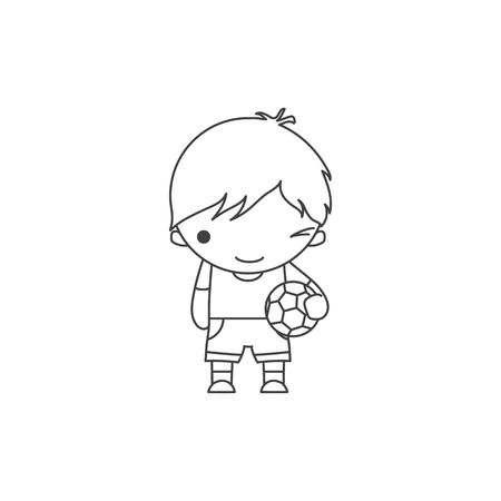Mono Divertido Con Una Manzana Y Un Balón De Fútbol. Imagen En Color ...
