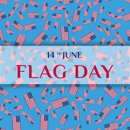 fourteenth: Greeting card of Flag Day.