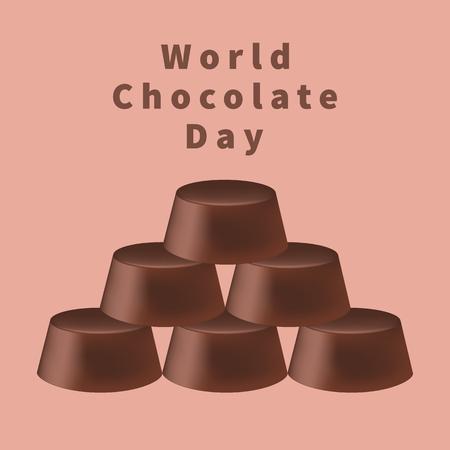 World chocolate day Illustration