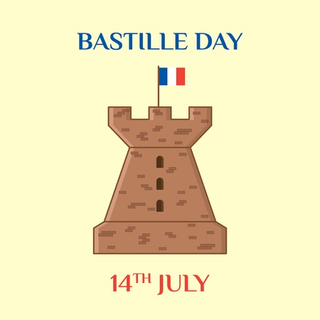 fourteenth: Bastille Day Illustration