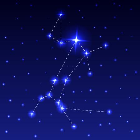 The Constellation of the Big Dog Illustration