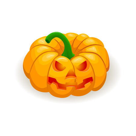 Halloween pumpkin isolated on a white background.
