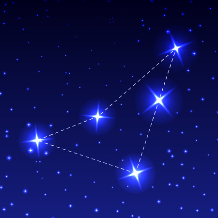 The Constellation Of Indian in the night starry sky. Vector illustration of the concept of astronomy Stock Photo