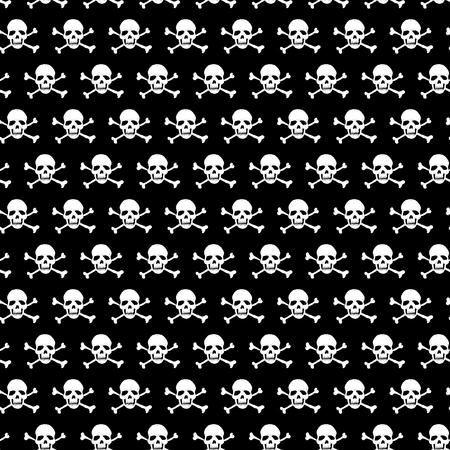 Crossbones and skull seamless pattern. Vector illustration