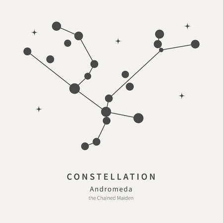 The Constellation Of Andromeda. The Chained Maiden - linear icon. Vector illustration of the concept of astronomy Ilustração