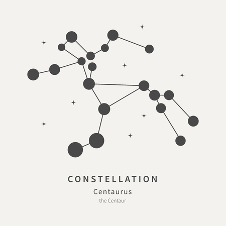 The Constellation Of Centaurus. The Centaur - linear icon. Vector illustration of the concept of astronomy