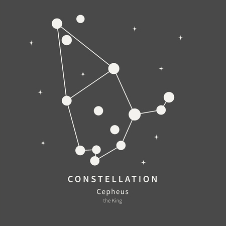 The Constellation Of Cepheus. The King - linear icon. Vector illustration of the concept of astronomy Ilustração Vetorial