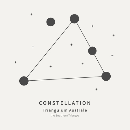 The Constellation Of Triangulum Australe. The Southern Triangle - linear icon. Vector illustration of the concept of astronomy Ilustração