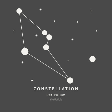 The Constellation Of Aquila. The Eagle - linear icon. Vector illustration of the concept of astronomy.