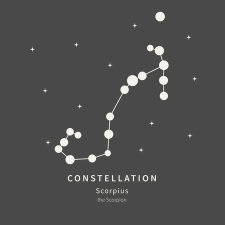 The Constellation Of Scorpius. The Scorpion - linear icon. Vector illustration of the concept of astronomy
