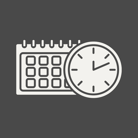 Time-management - business icon in flat style. Graphic design elements for ad, apps, website,packaging, poster or brochure. Vector illustration Illustration