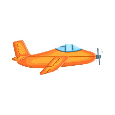 Cute cartoon plane isolated on white background. Good for children's books or for the concept of a startup, packaging, postcard, flyer. Vector illustration Vectores