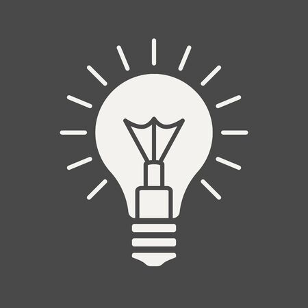 Bulb, concept of innovation or ideas - business icon in flat thin line style. Graphic design elements for ad, apps, website, packaging, poster or brochure. Vector illustration