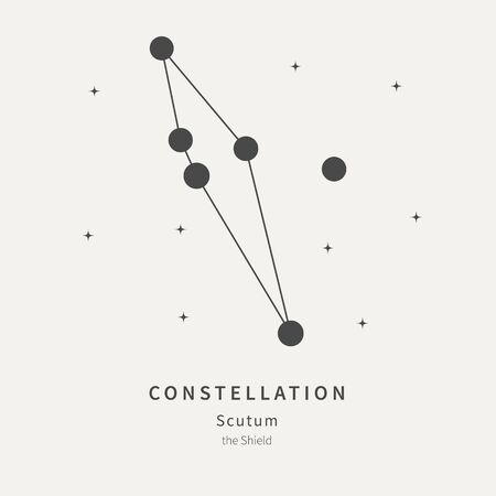 The Constellation Of Scutum. The Shield - linear icon. Vector illustration of the concept of astronomy