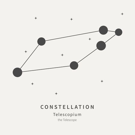 The Constellation Of Telescopium. The Telescope - linear icon. Vector illustration of the concept of astronomy 矢量图像