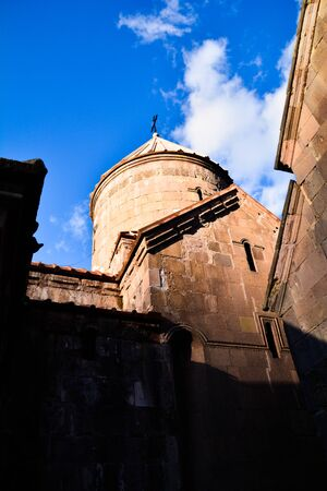 Domed top part of a main church of an ancient Goshavank monastery located in the village of Gosh