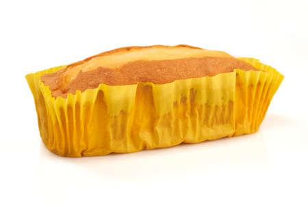 Pound cake isolated on white background