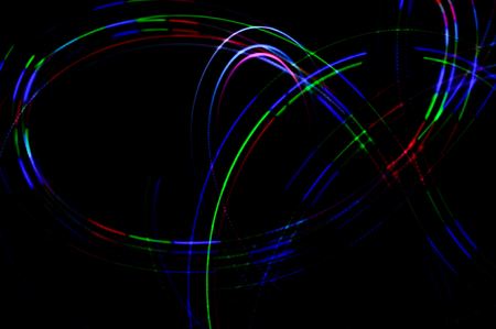 Light painting. Abstract, futuristic, colorful long exposure, black background-31.