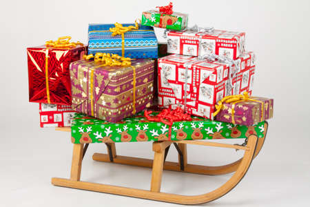 Presents on a sled Stock Photo - 8261863