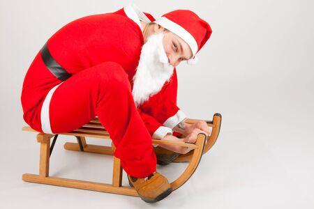 Santa Claus on his sled photo