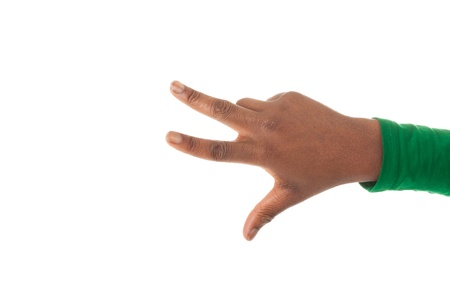 Three fingers of a black woman s hand Stock Photo - 18205373