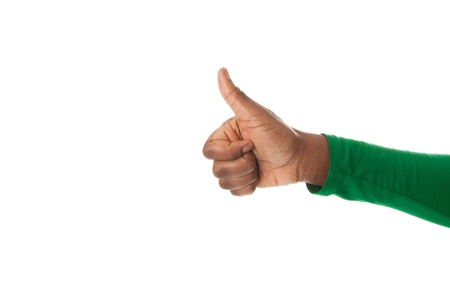 The thumb of a black woman is upturned Stock Photo - 18205386