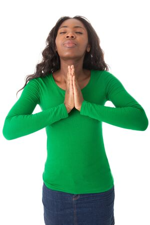 The hands are folded for a prayer Stock Photo - 18205358