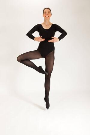 The young ballet dancer jumps in the air Standard-Bild