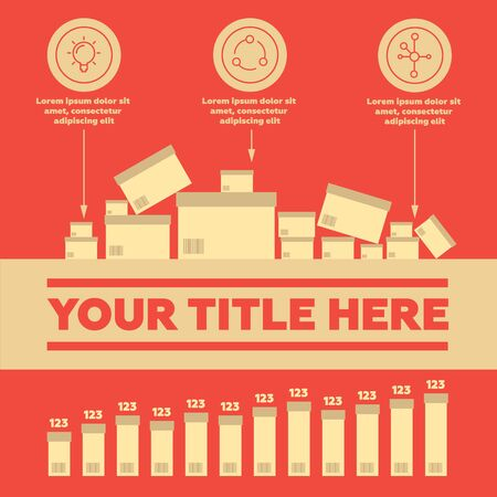 Infographics. Delivery elements and bar chart