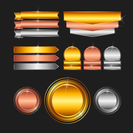 platinum: Blank stamps - gold, platinum, silver Illustration