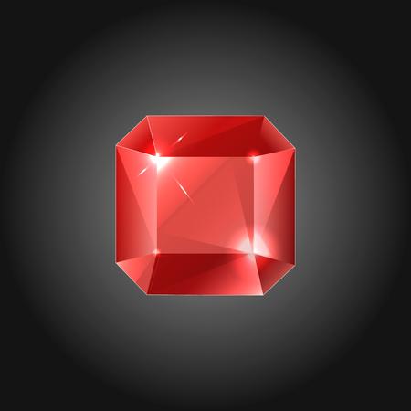 Rubin gem - vector illustration Illustration