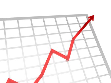 Positive chart Stock Photo