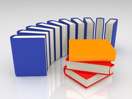 Bunte Bücher auf weißem Hintergrund. Standard-Bild - 3635689