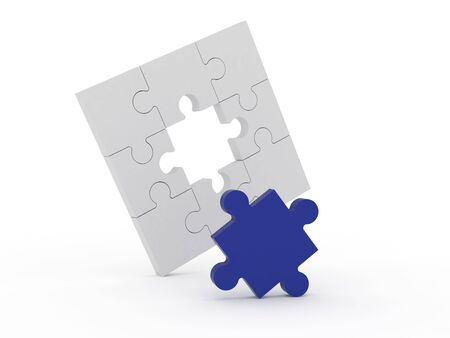 Jigsaw puzzle solution Stock Photo