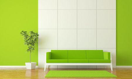 Modern interior  Standard-Bild - 6383176