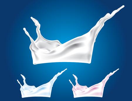 Ein Spritzer von Milch. Illustration.  Standard-Bild - 7150701